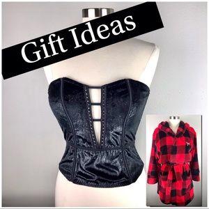 Victoria's Secret black shimmering corset
